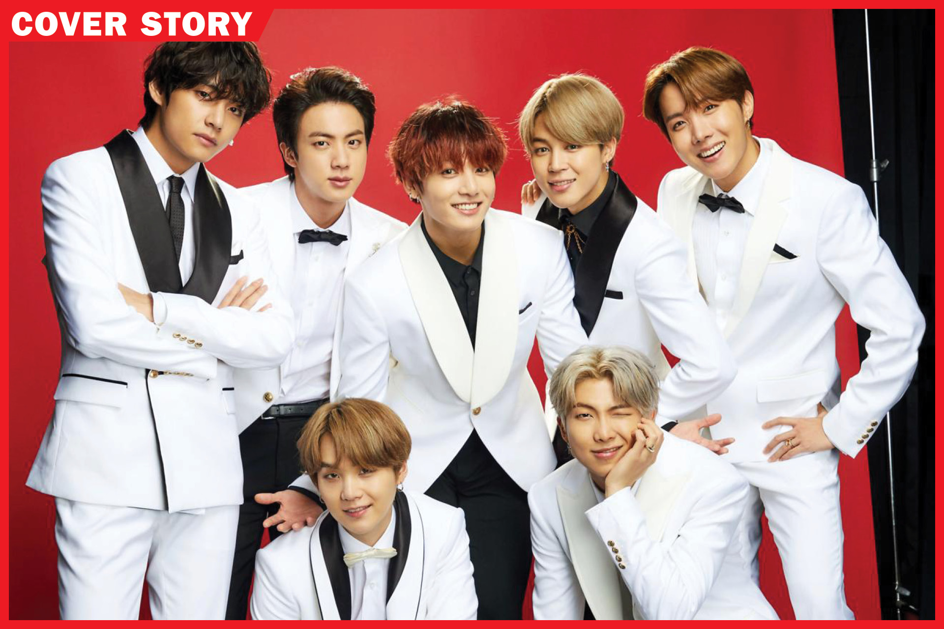 Members of the K-pop band BTS