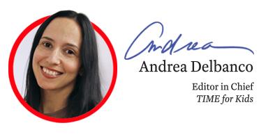 TIME for Kids Editor in Chief Andrea Delbanco